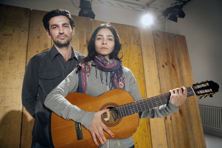 Mehdi Moinzadeh & Pegah Ferydoni – German-Iranian actors stage a play about refugees on the occasion of 60th anniversary Geneva's Refugee Convention, Neukölln Opera Berlin