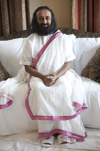 Sri Sri Ravi Shankar – spiritual leader in his hotel room, Berlin Tiergarten