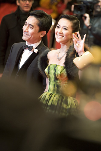 Red Carpet Reception - Actors Tony Leung Chiu-Wai & Zhang Ziyi ('The Grandmaster')