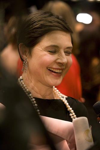 Red Carpet Reception - Actress and Film Director  Isabella Rossellini